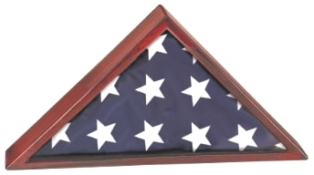 Memorial Flag Display Case Made With Rosewood-0