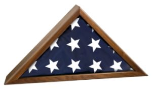 Memorial Flag Display Case Made With Walnut-0