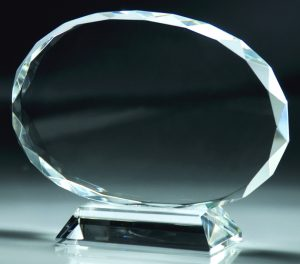 CRY51 Oval Crystal Award
