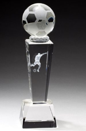 Crystal Soccer Trophy CRY214
