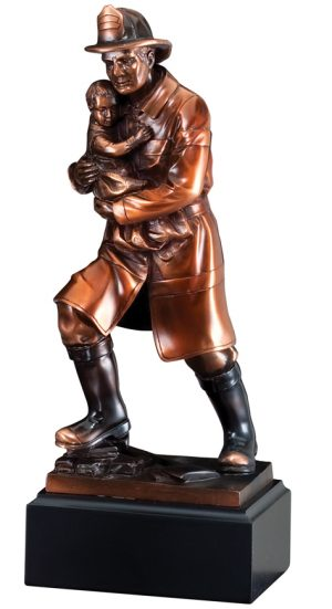 Fireman Rescuing Child Statue RFB064