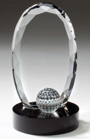 CRY336 Crystal Golf Trophy