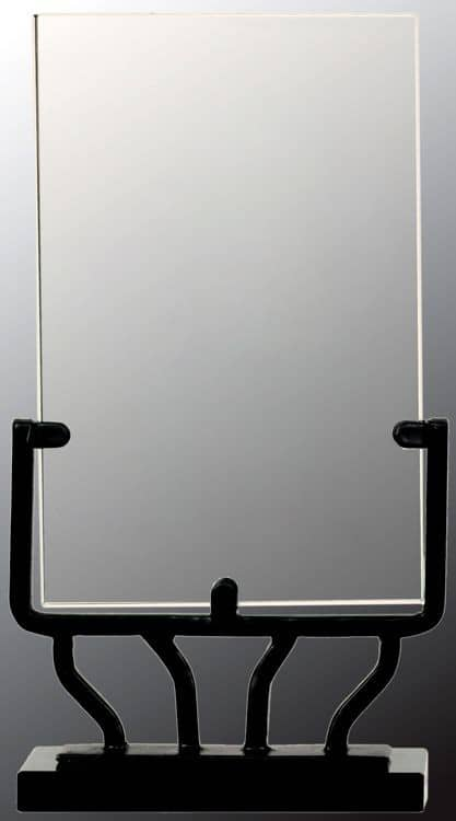 Blank vertical glass rectangle trophy, VG41