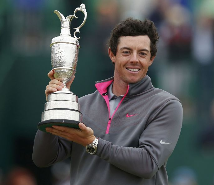 Rory McIlroy Open Championship Trophy